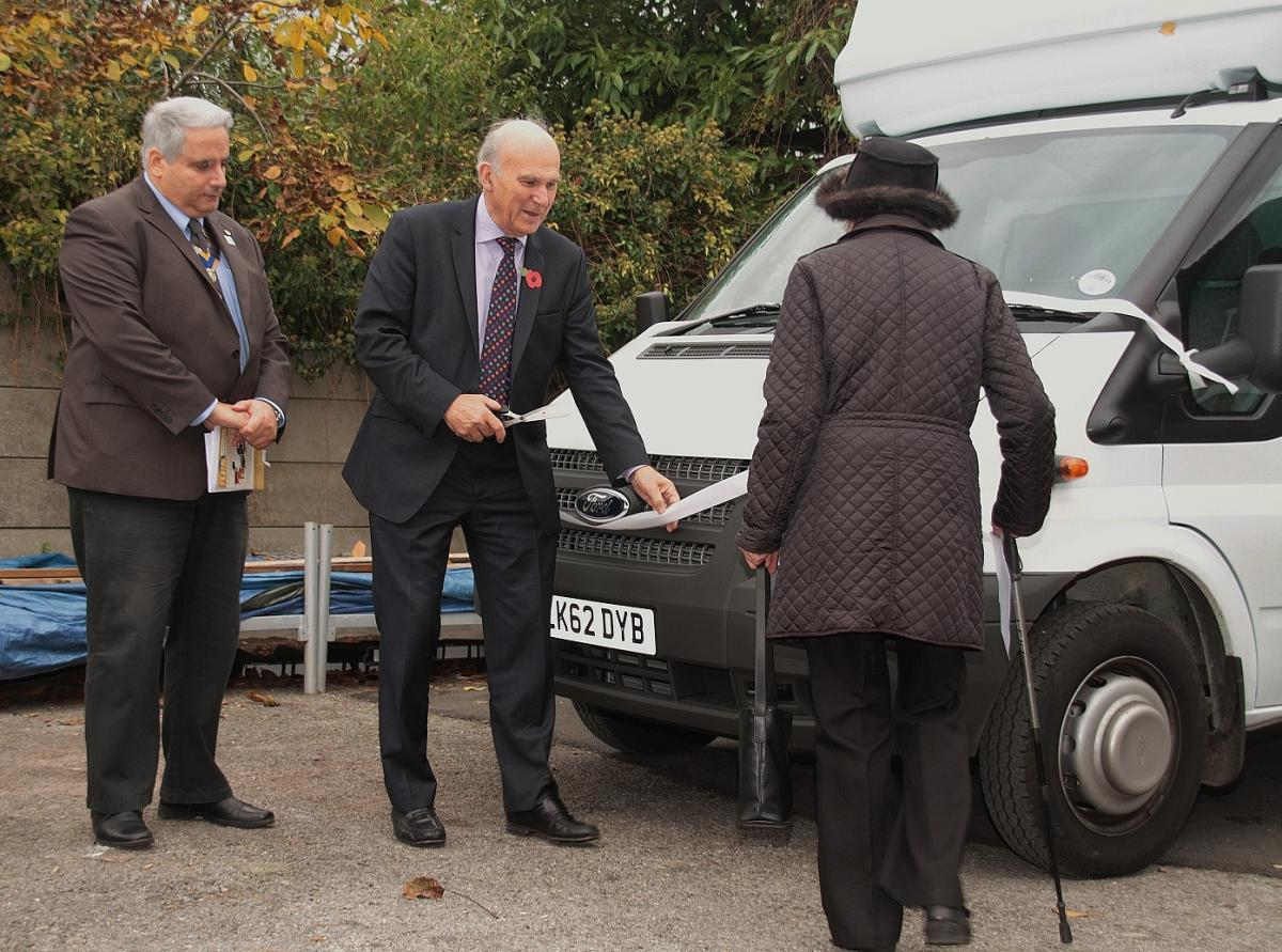 Richmond Furniture Scheme - Cutting the ribbon on the new van