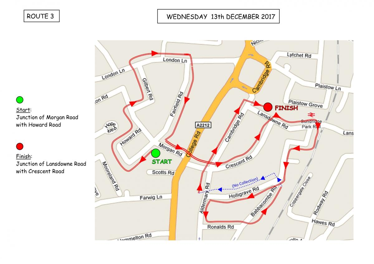 Christmas Sleigh Collection - Rotary Xmas Sleigh - Route 3