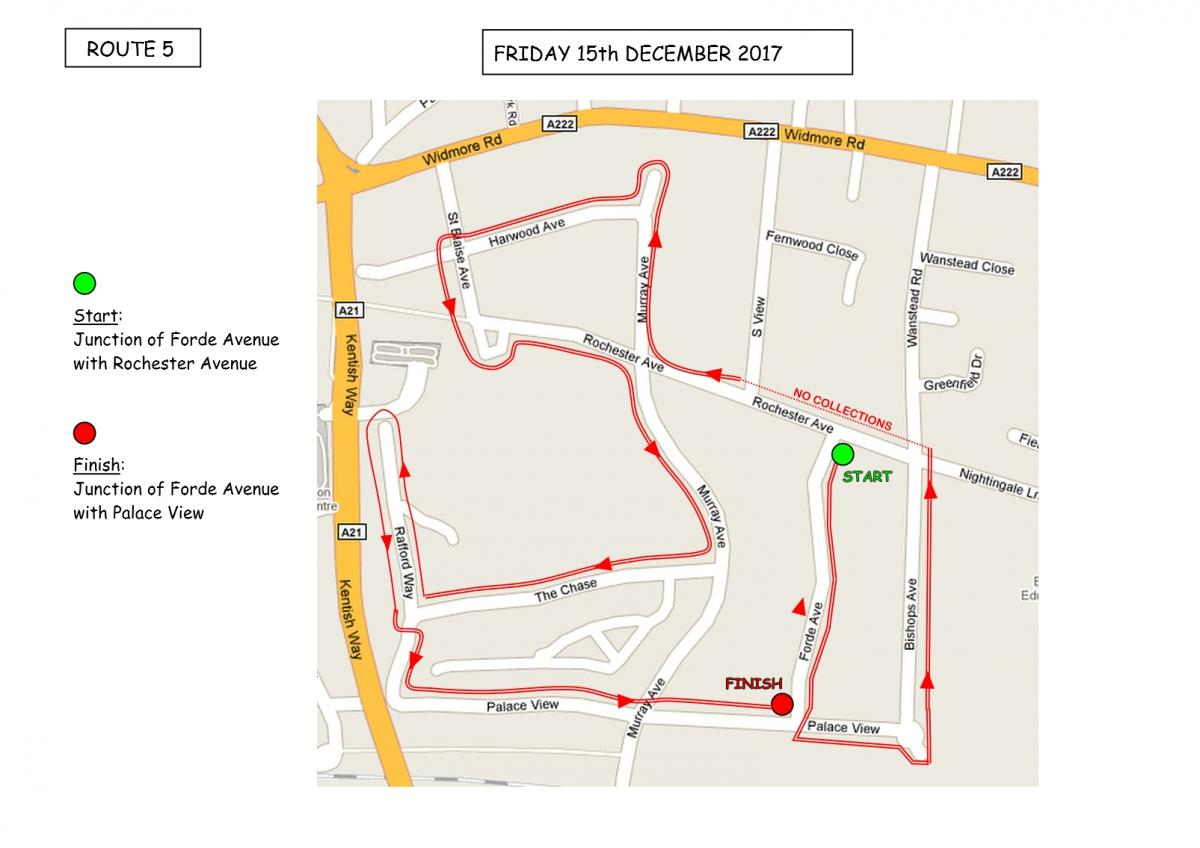 Christmas Sleigh Collection - Rotary Xmas Sleigh - Route 5