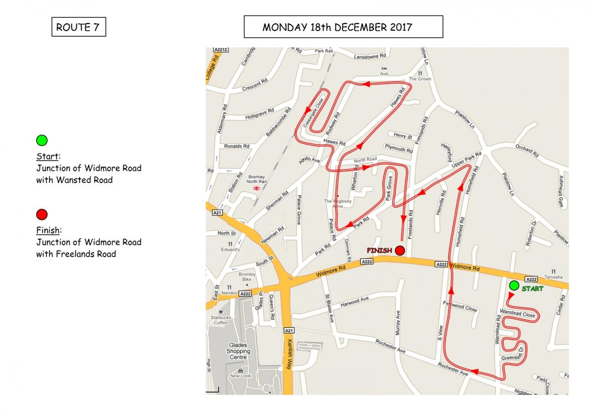 Christmas Sleigh Collection - Rotary Xmas Sleigh - Route 7