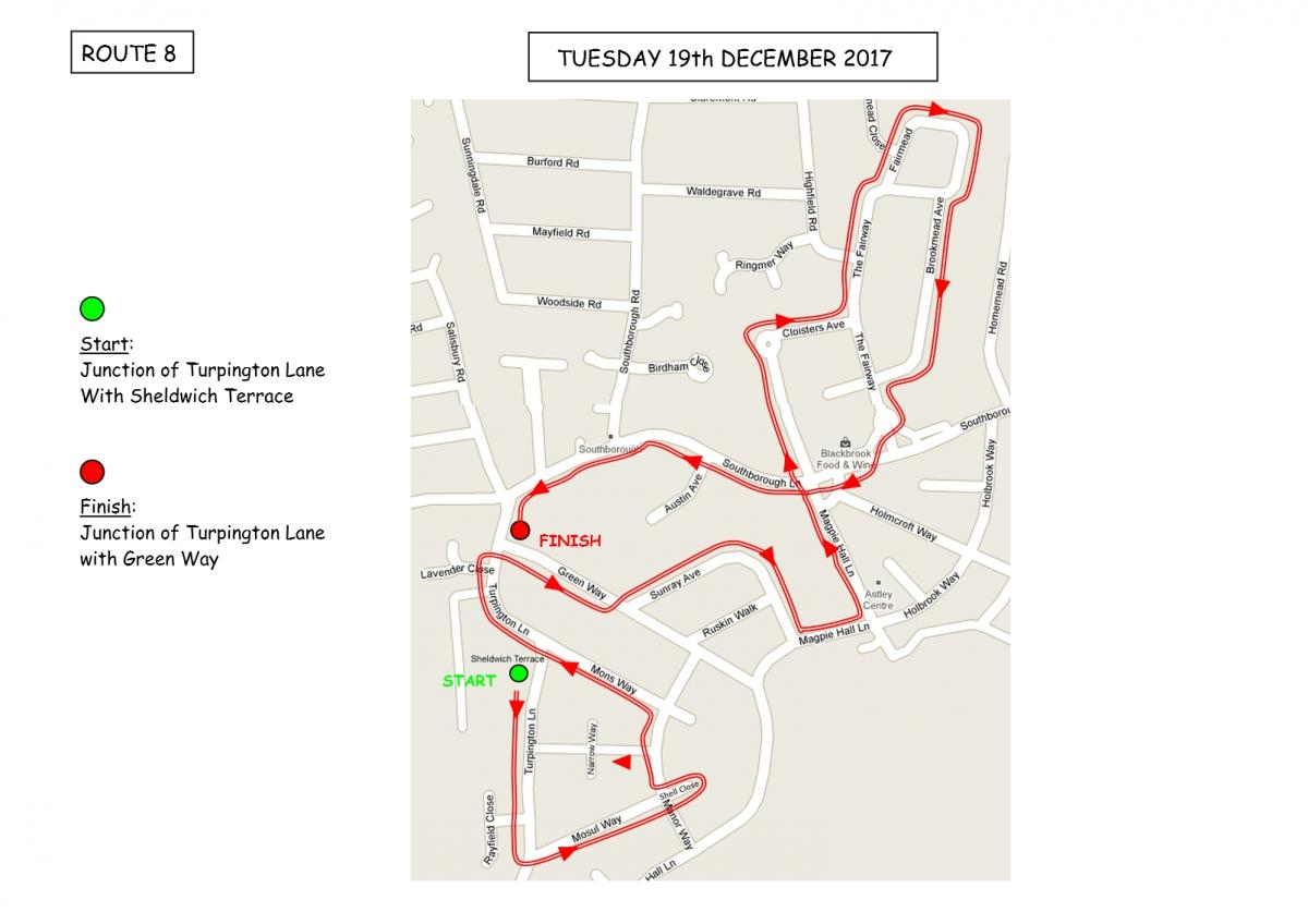 Christmas Sleigh Collection - Rotary Xmas Sleigh - Route 8