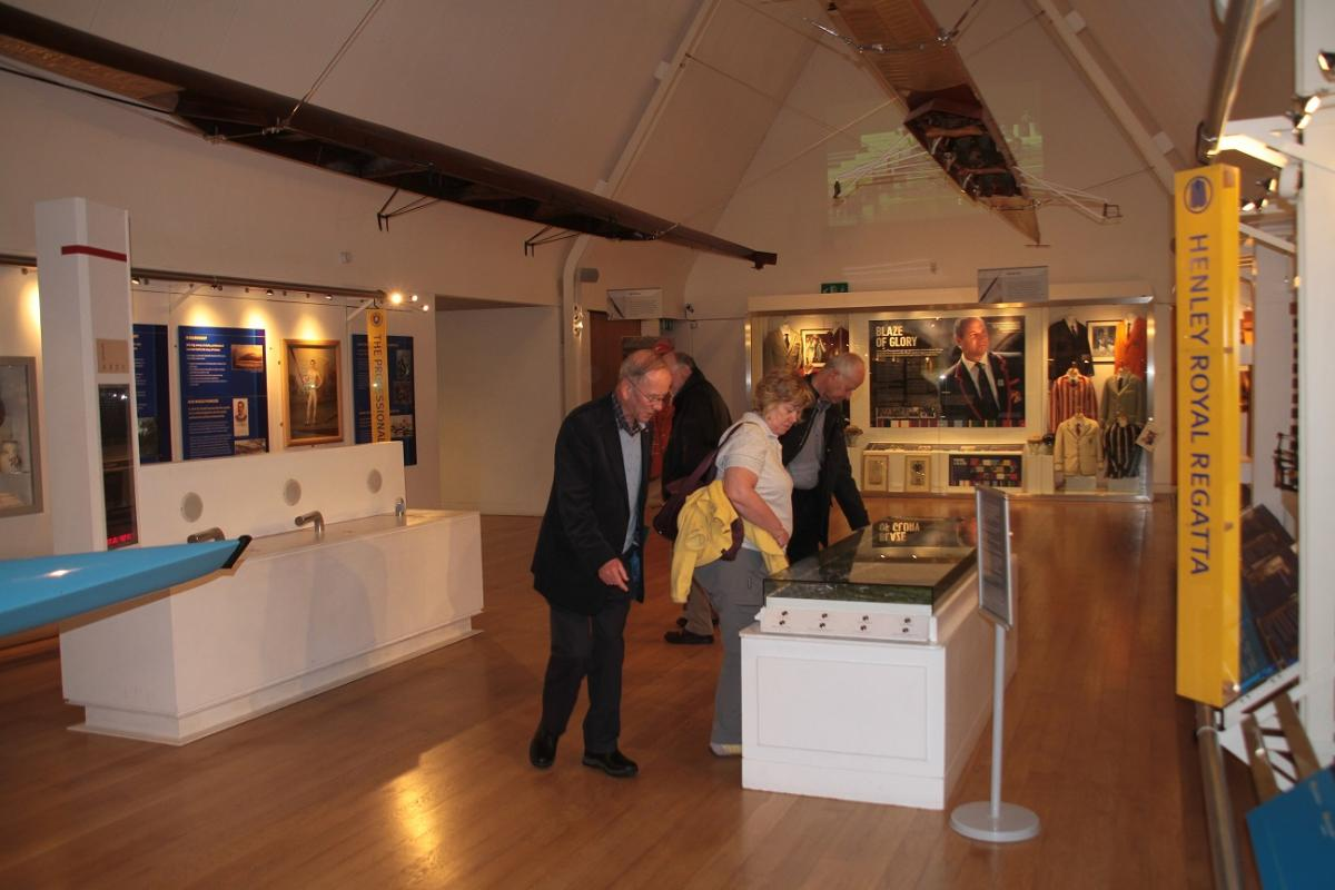 Visit to Henley River and Rowing Museum May 2016 - The exhibits were fascinating - numerous boats overhead and around us with their history.