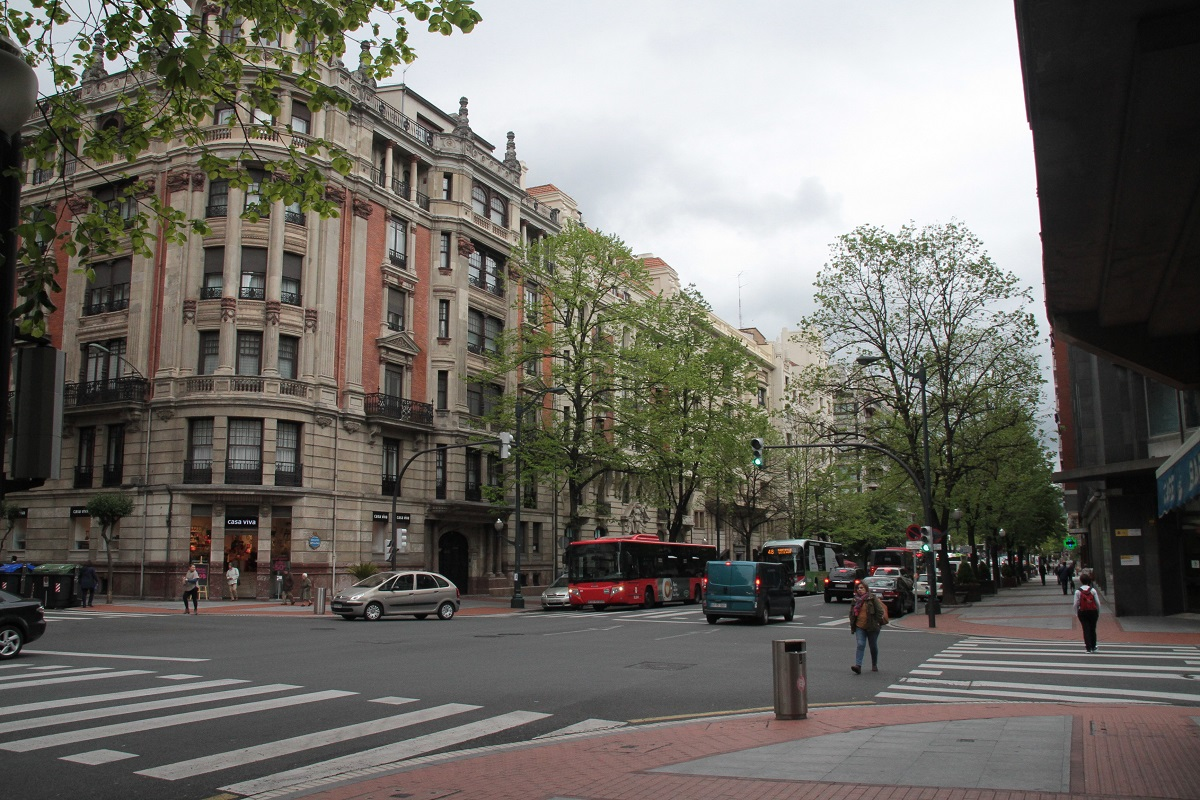 Club International Visit 2016 to Bilbao  - The Main Boulevard in Bilbao