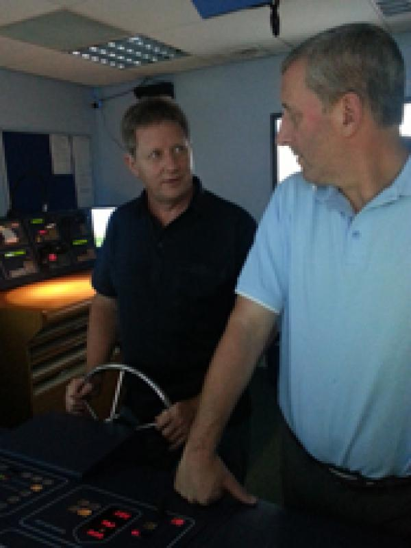 Visit to Lairdside Maritime Simulator - Rotary-Club-at-Southport-Links-Lairdside-3 1