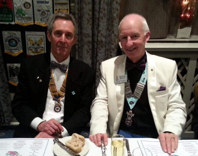 Charter Anniversary Dinner - President John Doyle with District Governor Roger Heath