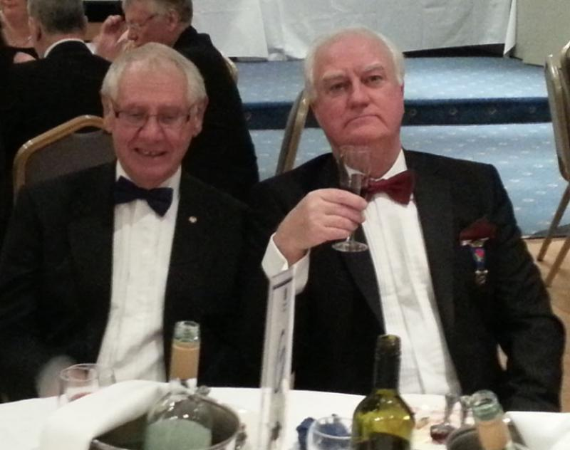 Charter Anniversary Dinner - Rotarians Doug Cottrell and John Tarpey