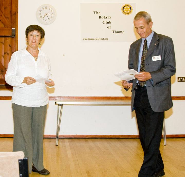 Presentation of Cheques 2007 -