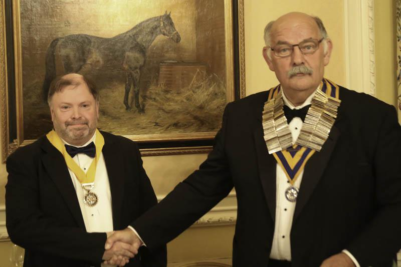 A new Rotary Year begins - Clive Smitheram welcomes Andy