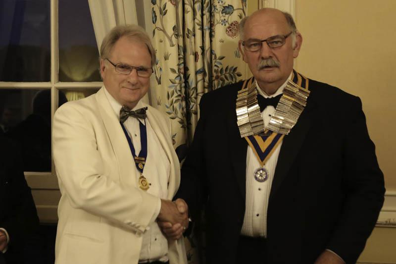 A new Rotary Year begins - Clive Smitheram welcomes Richard