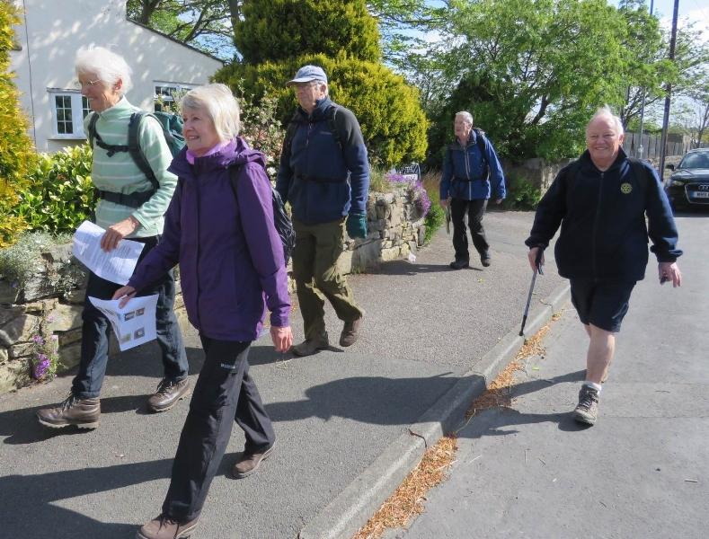 Annual Sponsored Charity Walk - Best foot forward for Club funds