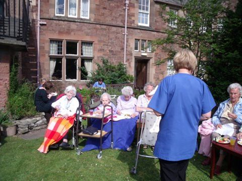 Barbecue at the Abbey care home -