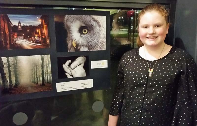 Rotary Young Photographer Competition - A prizewinner with her wonderful photograph of an owl