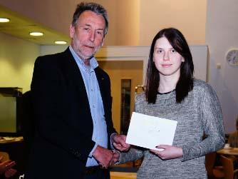 Rotary Young Photographer Competition - Rotarian Nick Vigor presenting the prizes