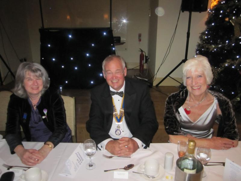 BLACKPOOL SOUTH ROTARY CLUB 2013  CHARTER DINNER.  - Rtn Wendy Aldred, President Kendal Lee (Sunrise) and Andrea Lee.