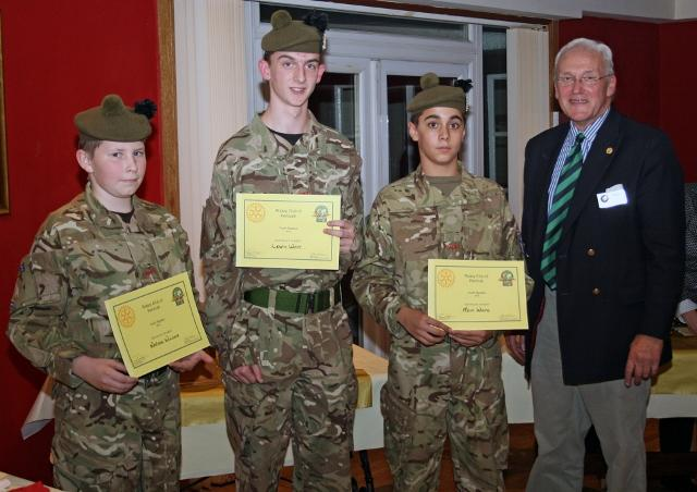 Youth Speaks in Penicuik - In a close contest the runners up were from the the local Army Cadets