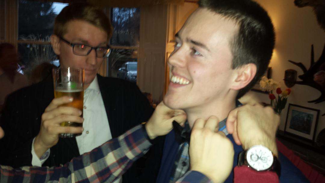 Annual Debate with Stirling University 22 March @ 18.00 - How many hands to get Ryan into a tie