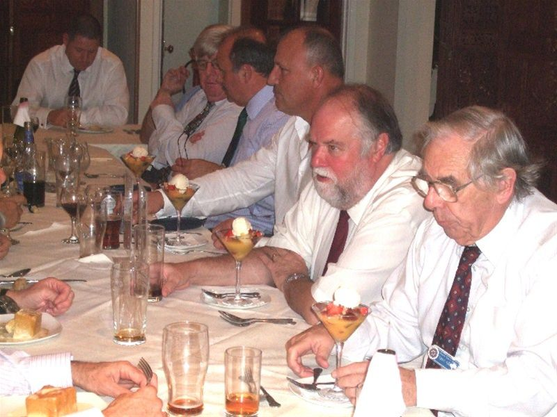 2010 Club Dinner with Kosovo Guests. -