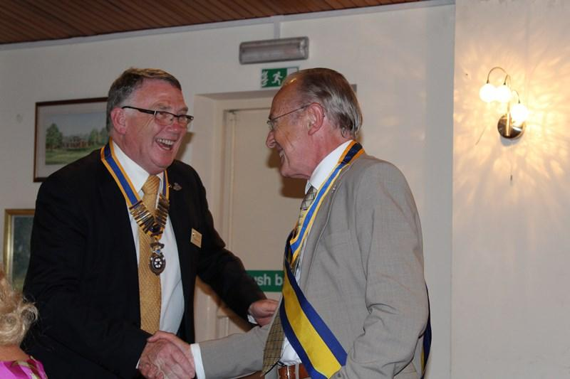 Ross Rotary Club Handover Dinner - President Elcet Alan