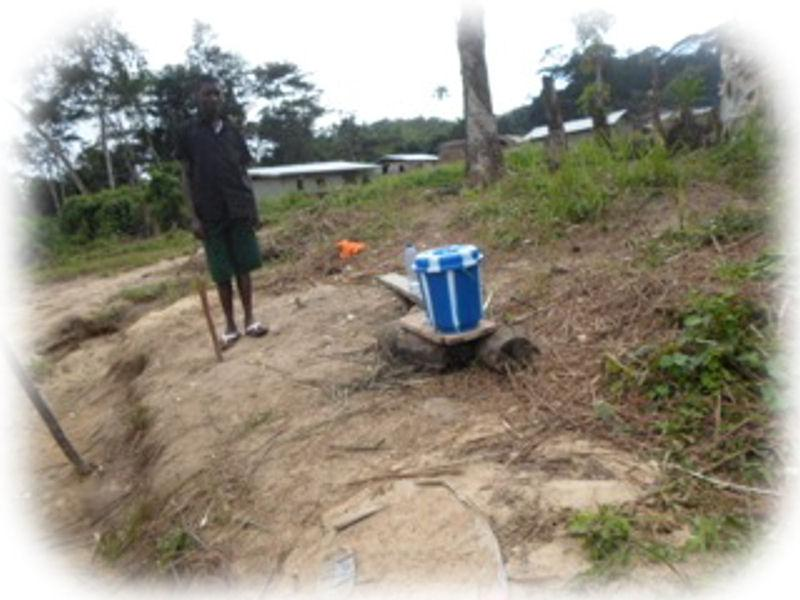Ebola Relief Initiative - For remote areas the buckets are the only source of water for hygiene