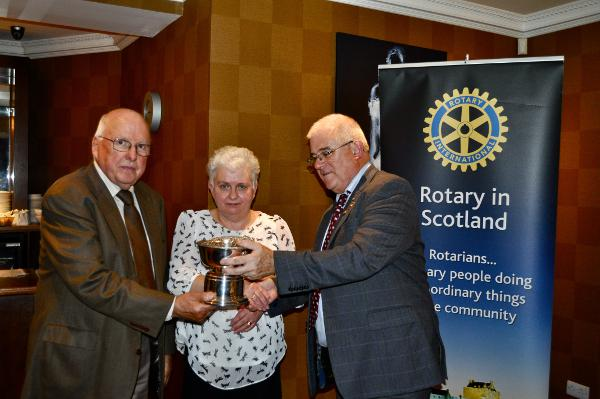 2014 Skye Rotary Annual Awards Dinner - Helen and Alastair Nicolson receives the Maurice Nicol Award for outstanding service to the community. The couple raised a staggering 800k pounds over 30 years for UK Cancer Research.