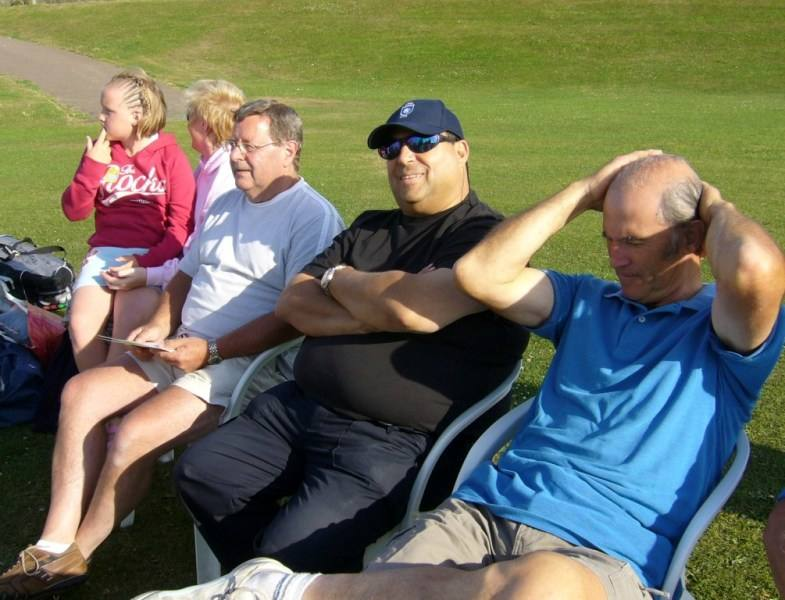 Annual Cricket Match - very relaxed before the match