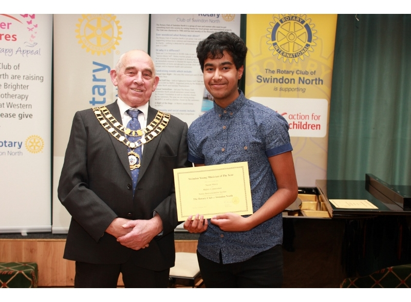Swindon Young Musician of the Year 2017 - Nayan Mistry, Highworth Warneford School, Highly Commended Senior Section Instrumental