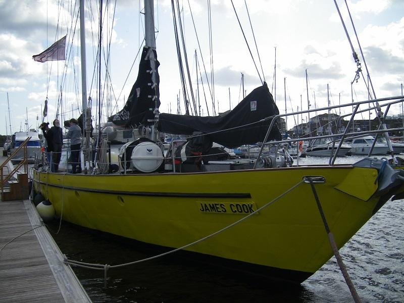 Rotary Ocean Youth Trust - James Cook a 21m x 6m steel hulled ketch weighing 54 tonne.