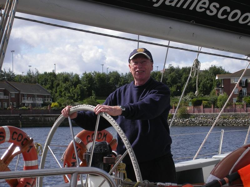 Rotary Ocean Youth Trust - DISTRICT GOVERNOR  EMYR LLOYD-DAVIES ON BOARD TO GIVE PEP TALK - THEN RAPIDLY  DEPARTS LEAVING THE YOUNGSTERS TO FACE THE FORECASTED FORCE 7 WINDS GUSTING FORCE 8