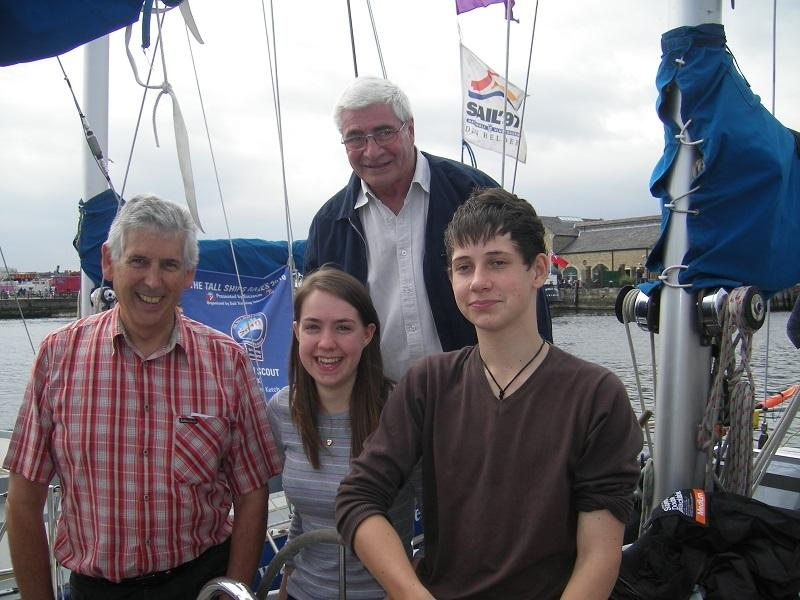 Rotary Ocean Youth Trust - They were able to sail amongst the Tall Ships as they left.