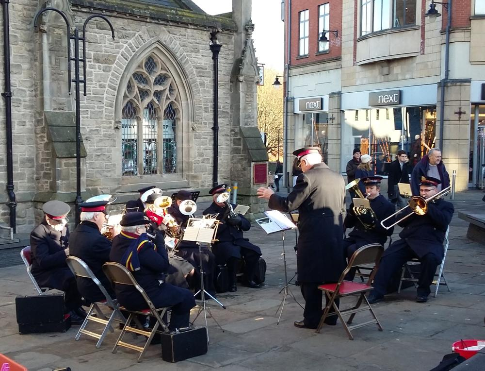 The Christmas Sleigh - 2016 - ... and the Salvation Army Band played carols