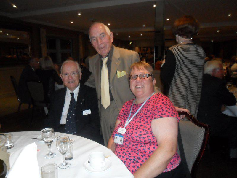 Cheque Presentation Evening - 18th Sept. 2014 - Stefan's guests - Lyn Meale and Alan Sayles OBE President of Farleigh Hospice
