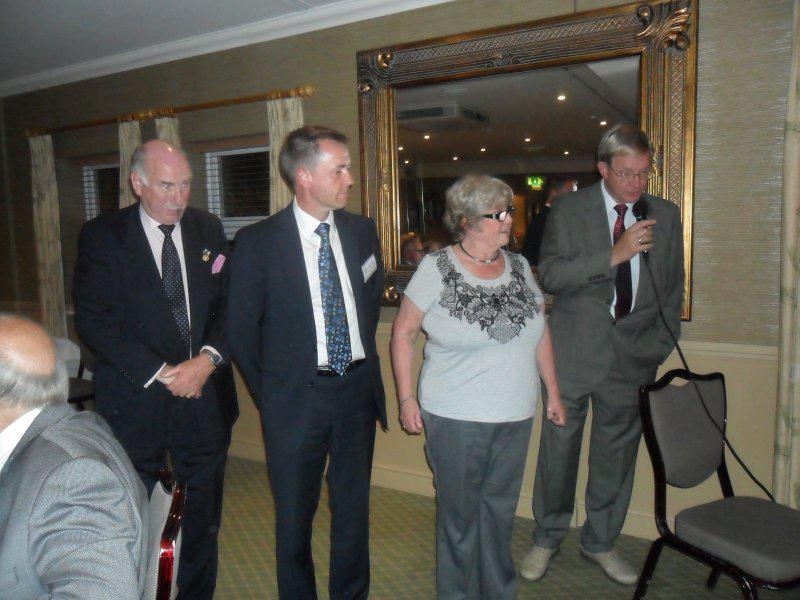 Induction of New Members - Andrew, David, Gill and Roger