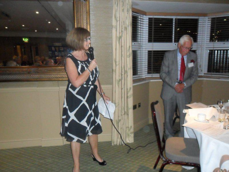 Cheque Presentation Evening - 18th Sept. 2014 - Alison talks about Farleigh Hospice