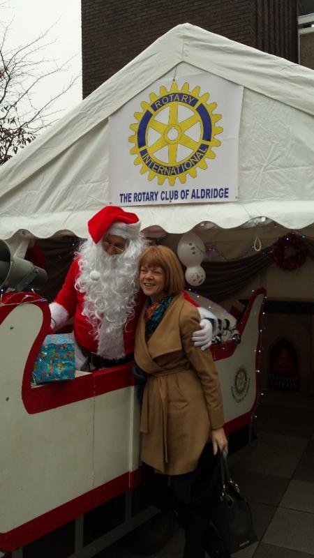 Aldridge Advent Adventure - Santa and Wendy Morton MP