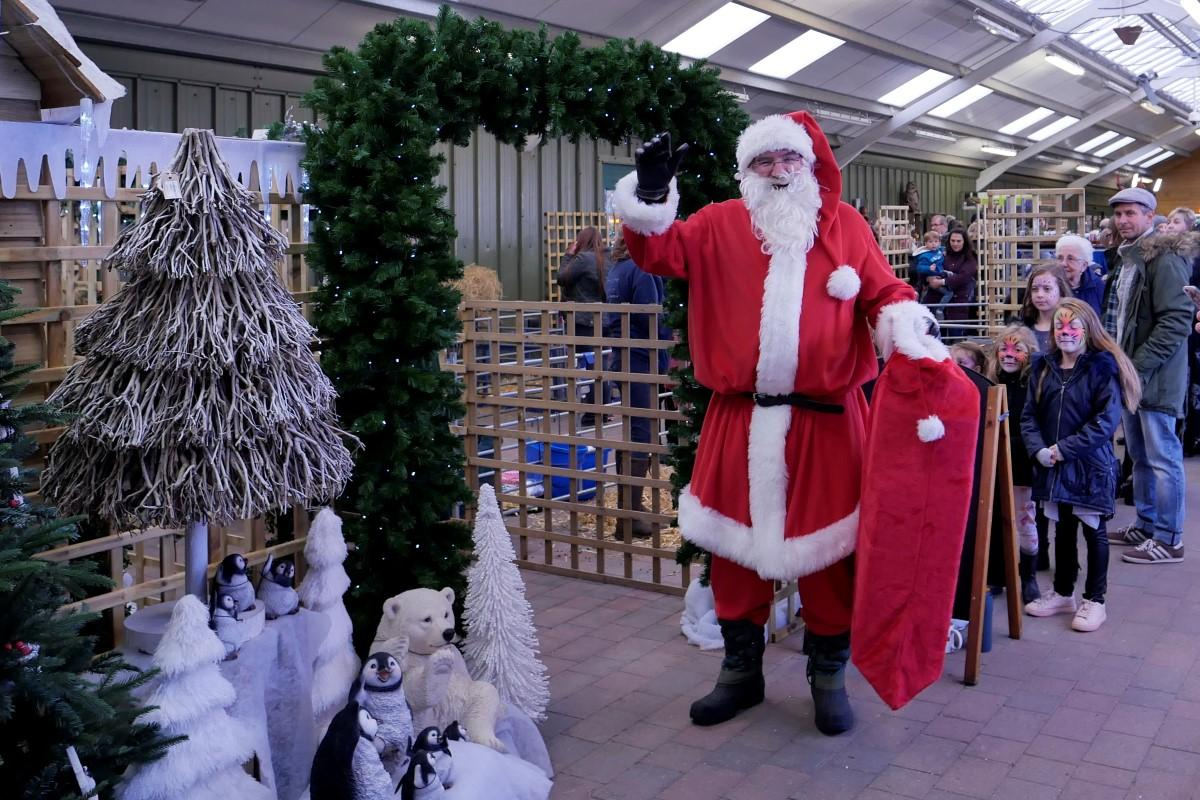 Santa arrived 10am Saturday 18 November - Santa at the entrance to his Grotto