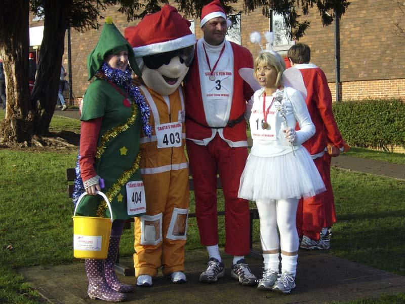 Baxterbear meets Sir Steve - Some of Santa's helpers