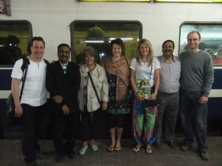 Ben's GSE visit to India - Saying farewell to our Rotary friends from Jaipur
