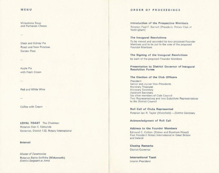 Inaugural Meeting 1981 - Pages 2 & 3