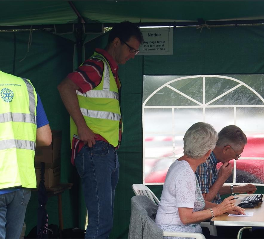 Englefield 10K Run 2016 - The boffins analysing the race data.