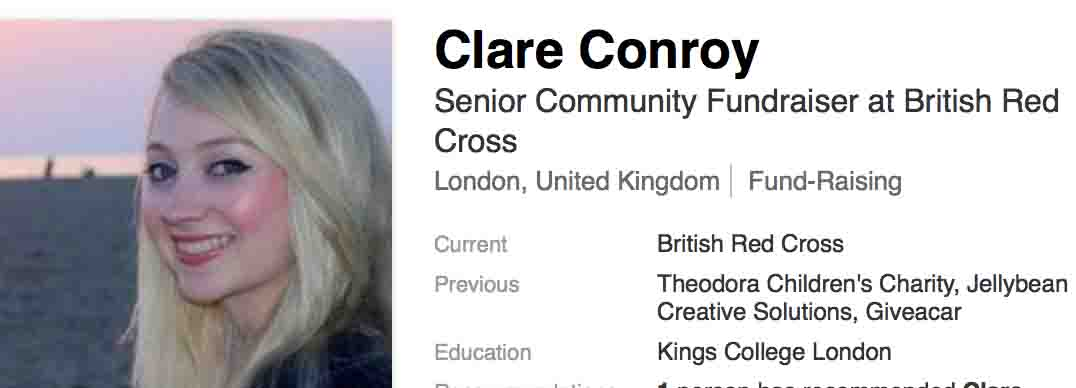 Speaker meeting Clare Conroy British Red Cross - Screen Shot Clare Conroy