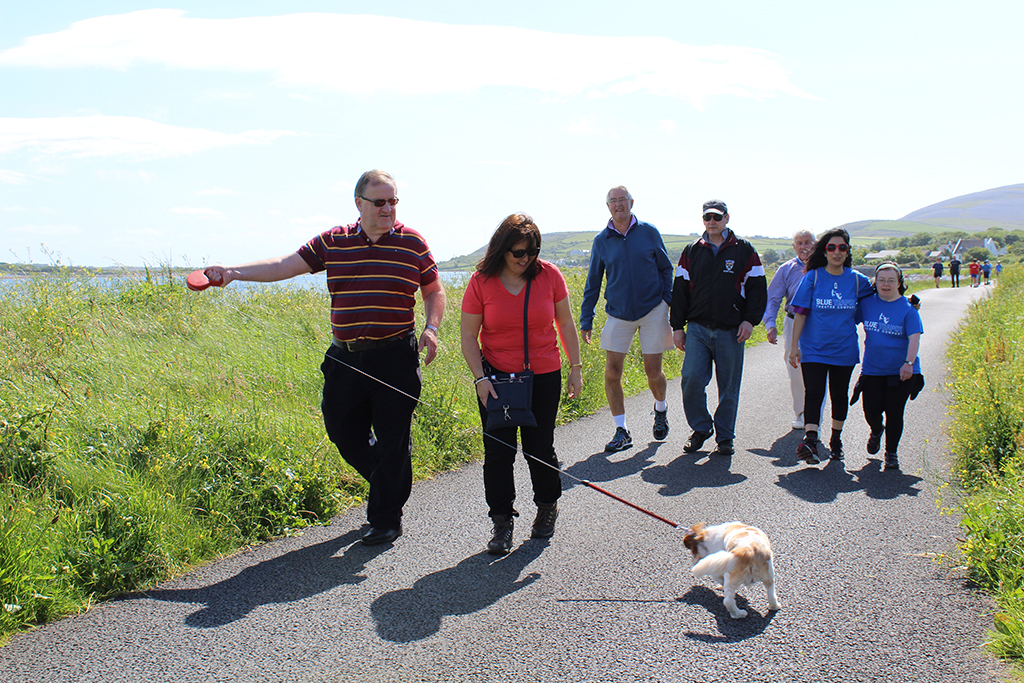 Blue Teapot Theatre Company - Sean Forrestal leading the way on the Burren Flaggy Shore Walk