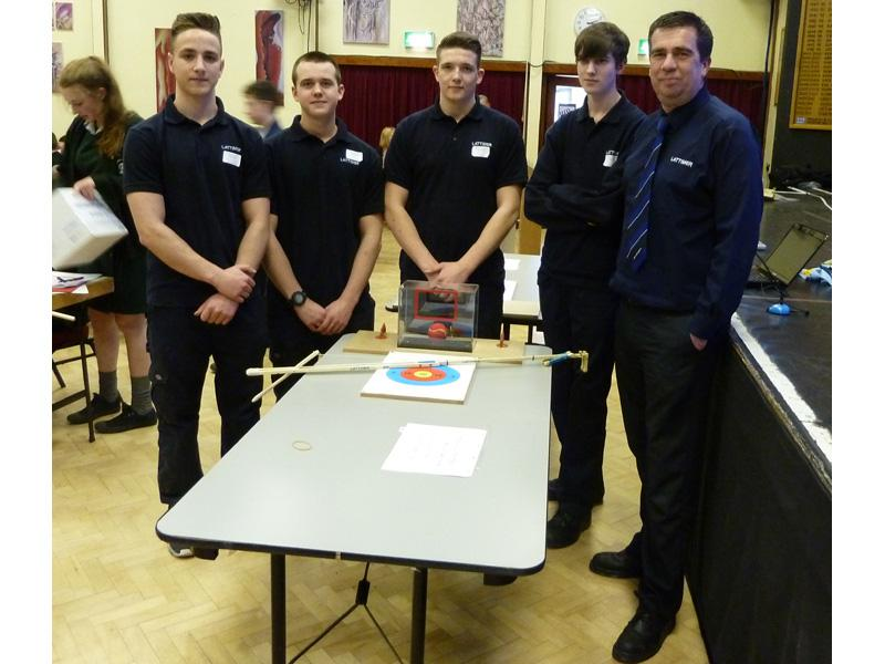Technology Tournament 2014 - Senior Winners - Southport College  - Lattimers with their entry