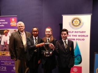 Secondary Schools' Public Speaking Competition - Winning team from Ballakermeen High School