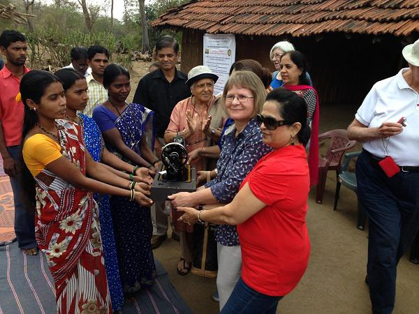 Update on our visit in 2014 to Mumbai - The hand turned sewing machine will be a great help