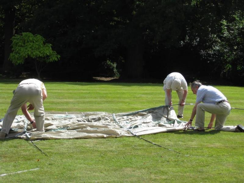 Club Service & Club Life - To erect a tent is not as easy as you think...