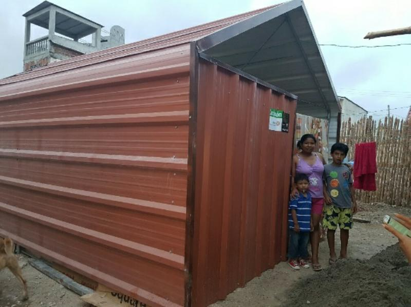 ECUADOR EARTHQUAKE APPEAL - A new family shelter