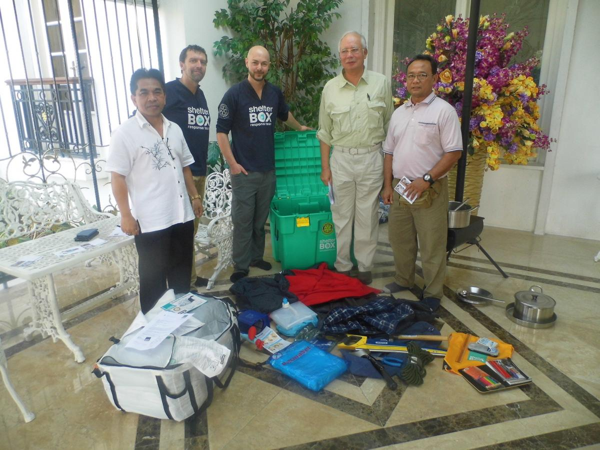 International Projects - Shelterbox arriving in Malasia 2015