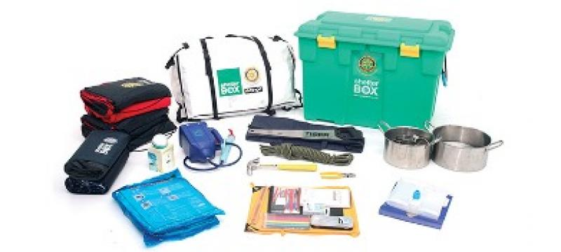 Annual appeal for support for Aquabox and Shelterbox -