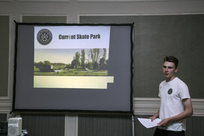 Talk about Thame Skate Park - Presenting the project