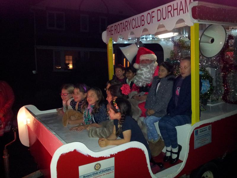 The Christmas Sleigh - 2014 - First stop - High Shincliffe ...